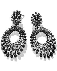 David Yurman - Double Drop Earrings With Diamonds - Lyst