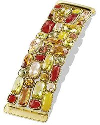 David Yurman | Châtelaine Five-row Bracelet With Lemon Citrine, Champagne Citrine, And Orange Sapphire In 18k Gold | Lyst