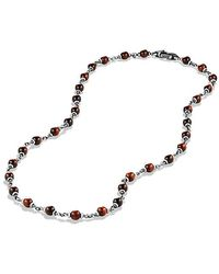 David Yurman - Spiritual Rosary Bead Necklace In Red Tiger Eye - Lyst