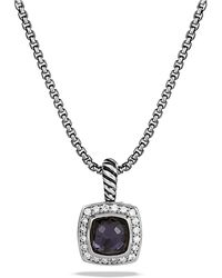 David Yurman - Petite Albion® Pendant Necklace With Black Orchid And Diamonds - Lyst