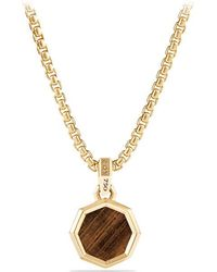 David Yurman   Dy Fortune Faceted Amulet With Golden Sheen Sapphire In 18k Gold   Lyst