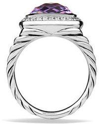 David Yurman - Albion® Ring With Amethyst And Diamonds, 11mm - Lyst
