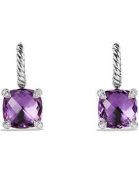 David Yurman - Châtelaine® Drop Earrings With Amethyst And Diamonds - Lyst
