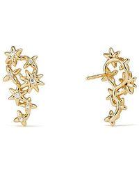 David Yurman - Starburst Constellation Climber Earrings In 18k Gold With Diamonds - Lyst