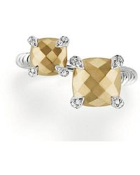 David Yurman - Chatelaine® Bypass Ring With 18k Gold And Diamonds - Lyst