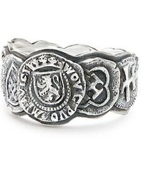 David Yurman - Shipwreck Coin Band Ring, 12mm - Lyst