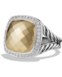 David Yurman - Albion® Ring With 18k Gold Dome And Diamonds, 14mm - Lyst