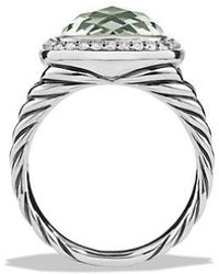 David Yurman - Albion Ring With Prasiolite And Diamonds, 11mm - Lyst