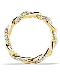 David Yurman - Wisteria Twist Ring With Diamonds In 18k Gold - Lyst