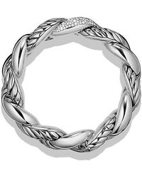 David Yurman | Belmont Curb Link Bracelet With Diamonds | Lyst