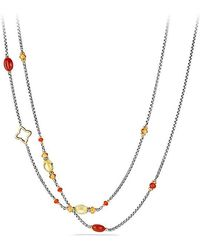 David Yurman | Bijoux Bead Necklace With Carnelian, Amber, Citrine And 18k Gold | Lyst