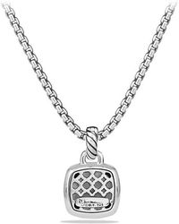 David Yurman - Albion® Pendant With Blue Topaz And Diamonds, 11mm - Lyst