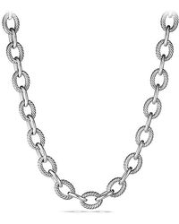David Yurman - Extra-large Oval Link Necklace - Lyst