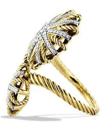 David Yurman - Starburst Open Ring With Diamonds In 18k Gold - Lyst