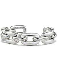 David Yurman - Wellesley Linktm Cuff With Diamonds, 14mm - Lyst