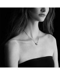 David Yurman - Stax Rondelle Pendant Necklace With Diamonds - Lyst