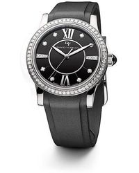 david yurman classic 34mm rubber swiss quartz watch with diamonds lyst