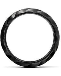 David Yurman - Modern Cable Wide Band Ring In Black Titanium, 9mm - Lyst