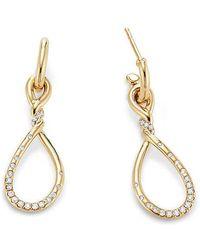 David Yurman - Continuance Medium Drop Earrings With Diamonds In 18k Gold - Lyst
