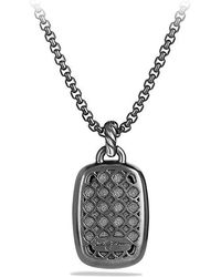 David Yurman - Albion Pendant With Gray Orchid And Black Diamonds - Lyst