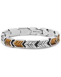 David Yurman - Chevron Link Bracelet With Tigers Eye, 9mm - Lyst