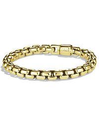 David Yurman - Box Chain Bracelet In 18k Gold, 7.5mm - Lyst