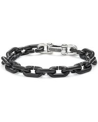 David Yurman - Chain Link Bold Bracelet With Black Titanium - Lyst