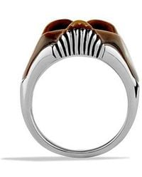 David Yurman - Carved Skull Ring With Tiger's Eye - Lyst