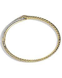 David Yurman - Labyrinth Single-loop Bracelet With Diamonds In 18k Gold, 8mm - Lyst