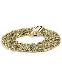 David Yurman - Multi-row Box Chain Bracelet In 18k Gold, 21mm - Lyst