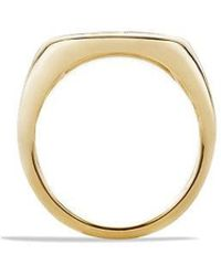 David Yurman - Dy Initial Pinky Ring With Diamonds In 18k Gold - Lyst