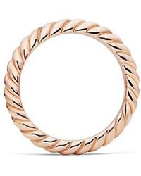 David Yurman - Dy Unity Cable Wedding Band In 18k Rose Gold, 3mm - Lyst