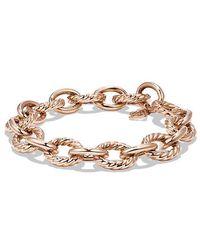 David Yurman - Large Oval Link Bracelet In 18k Rose Gold - Lyst