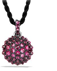 David Yurman - Cable Berries Pendant Necklace With Rhodalite Garnet - Lyst