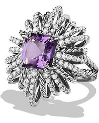 David Yurman - Starburst Ring With Amethyst And Diamonds - Lyst
