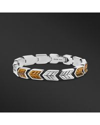 David Yurman - Chevron Link Bracelet With Tigers Eye, 9mm - Lyst