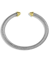 David Yurman - Cable Classics Bracelet With 14k Gold, 5mm - Lyst