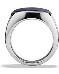 David Yurman - Knife-edge Signet Ring With Pietersite - Lyst