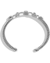 David Yurman | Confetti Narrow Cuff Bracelet With Diamonds, 16mm | Lyst