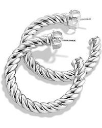David Yurman - Cable Classics Hoop Earrings - Lyst