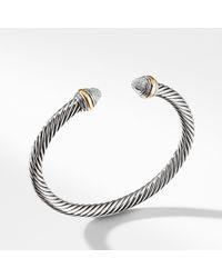 David Yurman - Cable Classics Bracelet With Diamonds And 14k Gold, 5mm - Lyst
