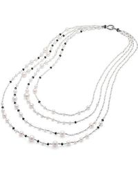 David Yurman | Oceanica Pearl And Bead Link Necklace With Pearls And Black Spinel | Lyst