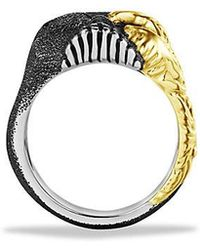 David Yurman | Waves Large Skull Ring With 18k Gold | Lyst