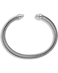 David Yurman | Cable Classics Bracelet With Diamonds, 5mm | Lyst
