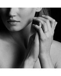 David Yurman - Dy Eden Single Row Wedding Band With Diamonds In 18k Gold, 2.8mm - Lyst