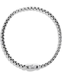 David Yurman - Medium Box Chain Bracelet, 4mm - Lyst