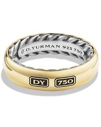 David Yurman - Streamline Band Ring With 18k Gold - Lyst