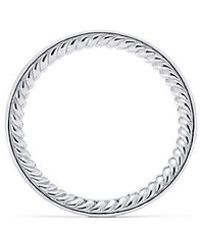 David Yurman - Dy Eden Eternity Wedding Band With Diamonds In Platinum, 2.3mm - Lyst