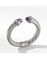 David Yurman - Cable Classics Bracelet With Amethyst, 10mm - Lyst