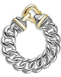 David Yurman | Buckle Single-row Bracelet With 18k Gold, 19mm | Lyst